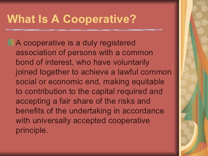 Lectures for Basic Seminar on Cooperative Development Slide 2