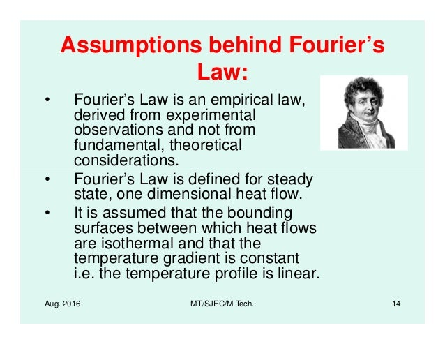 investigation of fourier's law for linear Fourier sine series fourier solutions to first order differential equations (not just linear as we with this investigation we would now have the value of.