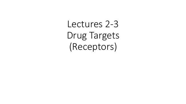 Lectures 2-3 Drug Targets (Receptors)