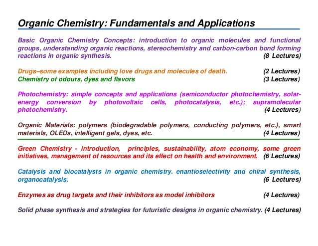 Stereochemistry. Basic Concepts and Applications
