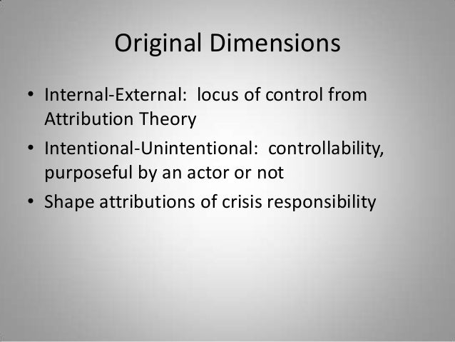 crisis situation theories Public relations: crisis management & ethics  the most recent crisis situation facing a large, recognizable company today is the bp oil spill.