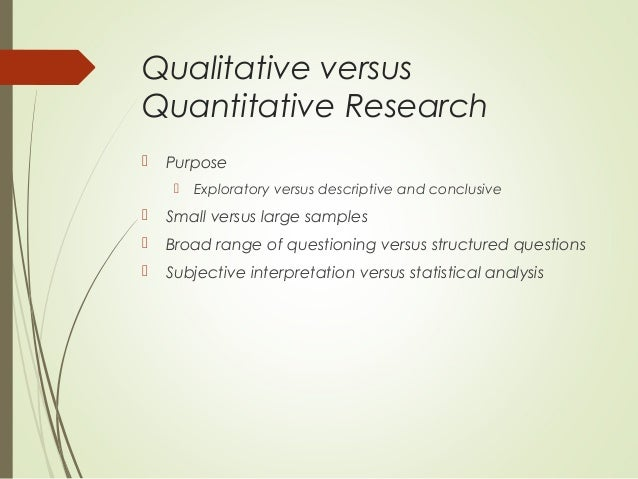 The Purpose of Exploratory Research: Good Research Questions