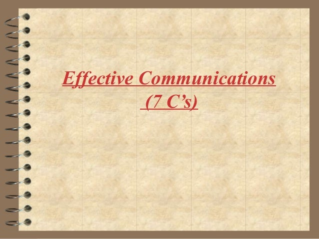 Effective Communications (7 C's)