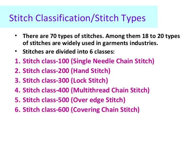 Stitch Classification