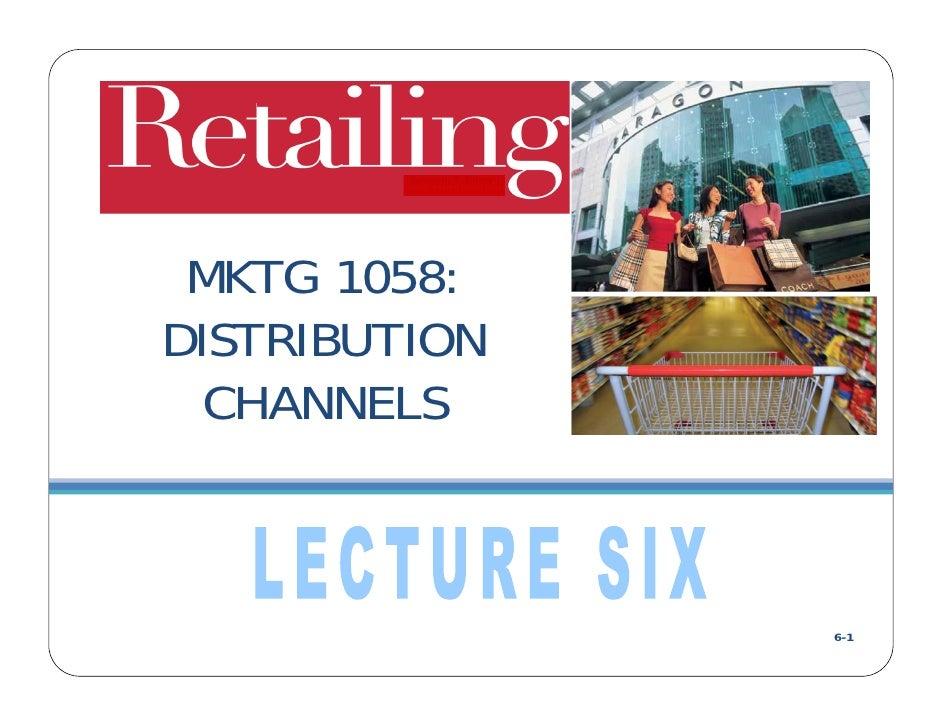 DC Lecture Six: Managing a Retailer's Finances