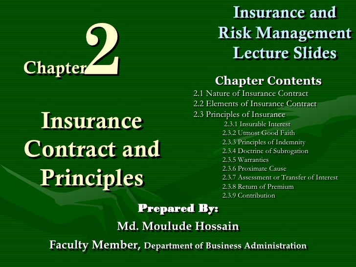 2                                       Insurance and                                     Risk Management                 ...