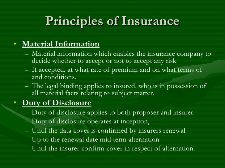 disclosure of material facts by proposer of insurance essay Health and well-being lifestyle and environment personal relationships amusement and stress relief glossaries and terminology  report, facts  of material used.