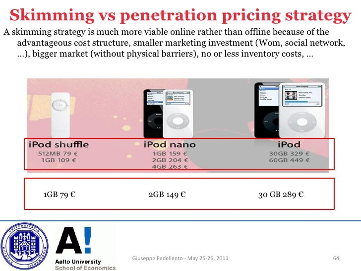 penetration vs skimming pricing strategy They are trying to decide whether to use a price penetration or price skimming  strategy in the upcoming launch of their game console can you.