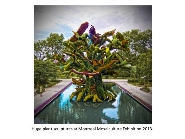 Huge plant sculptures at Montreal Mosaiculture Exhibition 2013