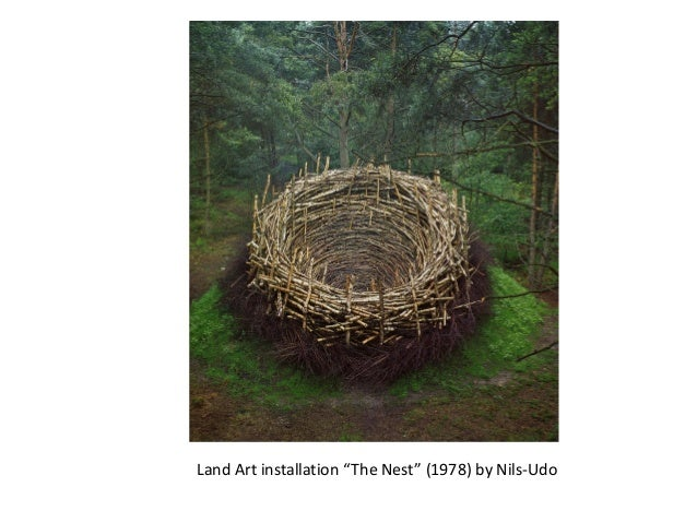 """Land Art installation """"The Nest"""" (1978) by Nils-Udo"""