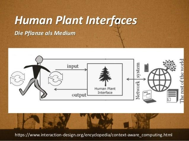 Human Plant Interfaces Die Pflanze als Medium https://www.interaction-design.org/encyclopedia/context-aware_computing.html
