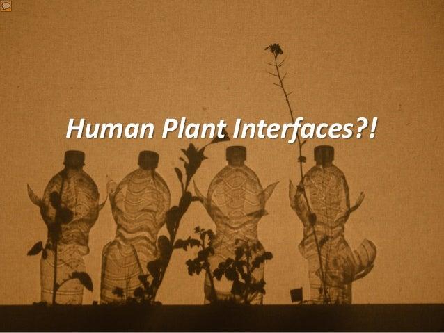Human Plant Interfaces?!