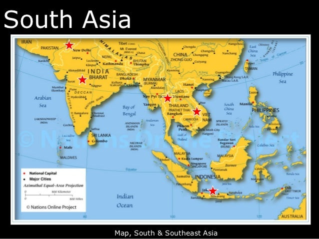 Lecture South And Southeast Asia - South asia map