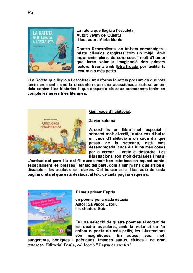 Lectures Recomanades Per A Ed Infantil Primària I Eso
