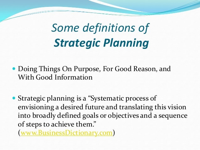 five step planning process healthcare