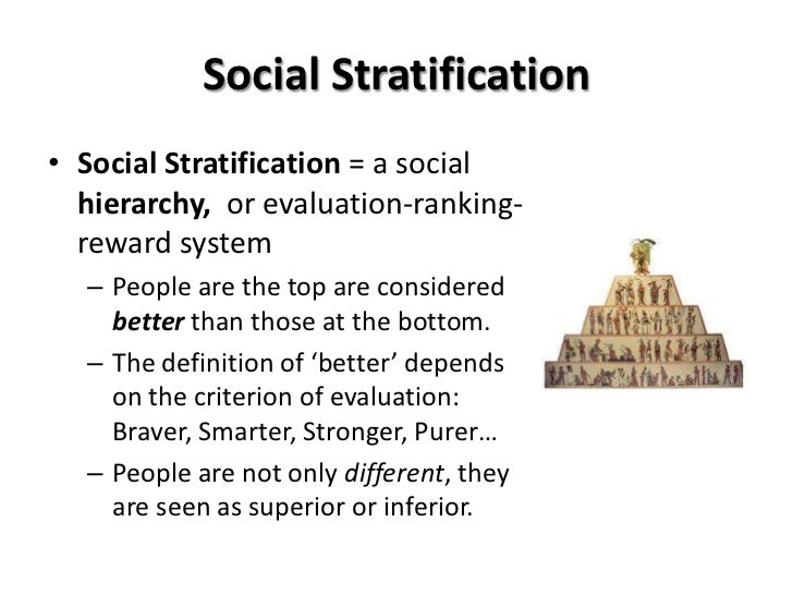 define social stratification