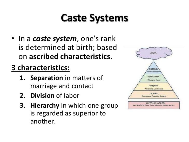 discrimination and caste systems Essay on indian caste system indian caste system caste system is a form of social stratification that divides the society into distinct classes or groups, that often includes hierarchical transmission of social lifestyle, social status, occupation.