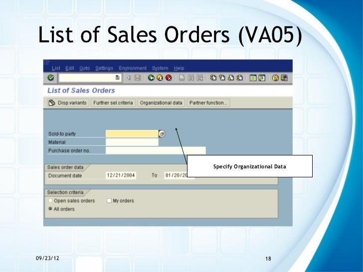 The Sales Order Process in SAP ERP