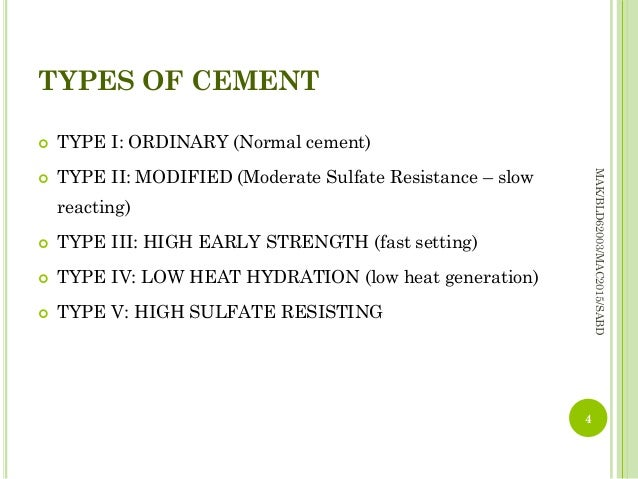 Type V Cement : Lecture topic concrete aug part