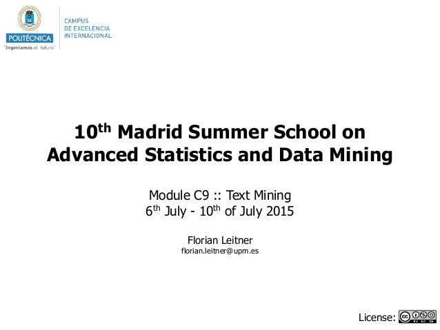 10th Madrid Summer School on