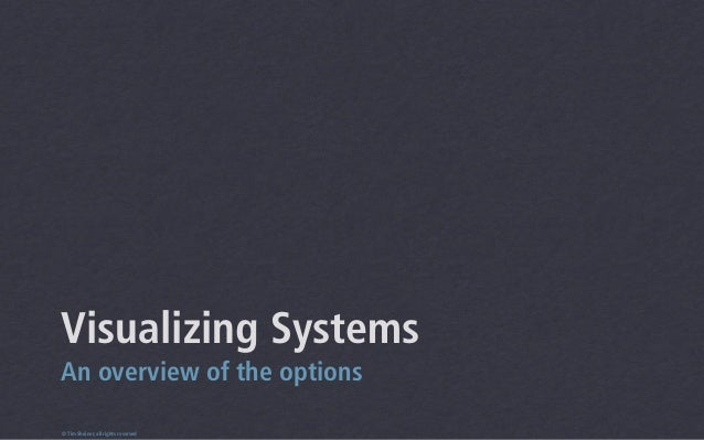 Visualizing SystemsAn overview of the options© Tim Sheiner, all rights reserved