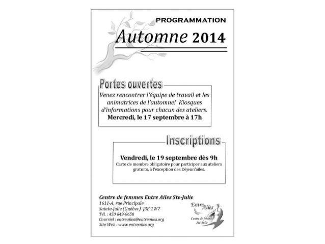 Programmation – Automne 2014