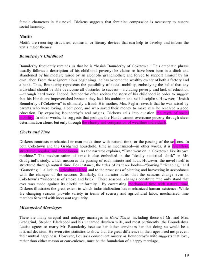analyse louisas marriage with bounderby as an Welcome to the dickensian world of 19th-century coketown, where a fact is a fact, and imagination is the dreaded enemy of progress this page is for the advanced placement literature students of mr barrows at centaurus high school to share their ongoing musings on the serialized saga of charles dickens's hard times, which first appeared chapter-by-chapter in a victorian-era magazine.