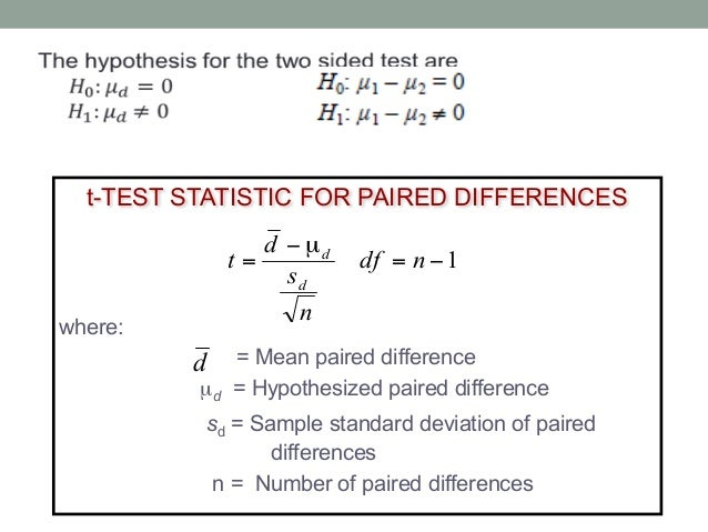 how to find hypothesized mean difference