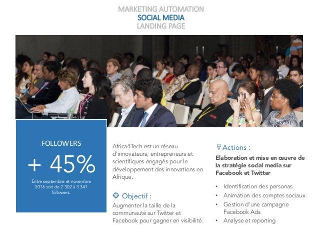 MARKETING AUTOMATION SOCIAL MEDIA LANDING PAGE Africa4Tech est un réseau d'innovateurs, entrepreneurs et scientifiques eng...