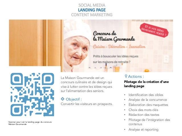 SOCIAL MEDIA LANDING PAGE CONTENT MARKETING La Maison Gourmande est un concours culinaire et de design qui vise à lutter c...