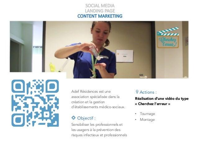 SOCIAL MEDIA LANDING PAGE CONTENT MARKETING Adef Résidences est une association spécialisée dans la création et la gestion...