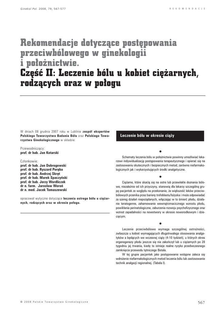 Ginekol Pol. 2008, 79, 567-577                                                                           R E K O M E N D A...