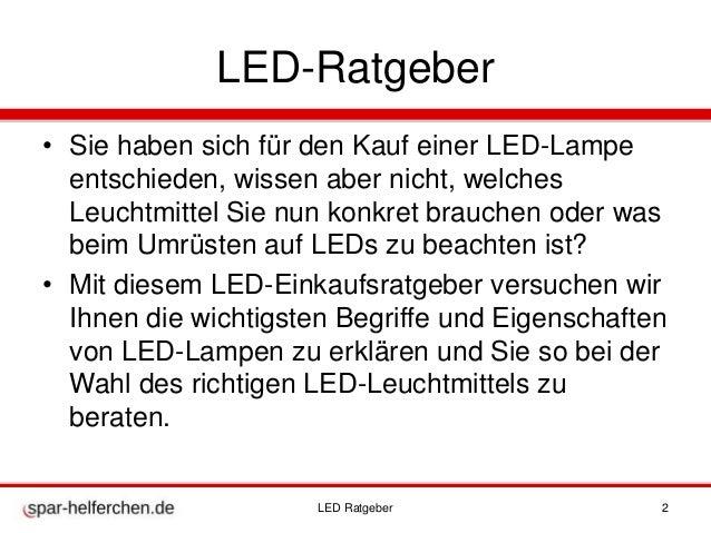 LED Ratgeber Alle Infos rund um LEDs spar