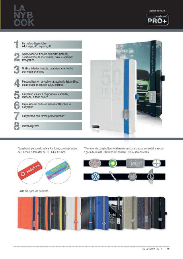 LA NYB OOK 1 2 3 4 5 6 7 8 Formatos disponibles: A4, Large, A5, Square, A6 Seleccionar el tipo de cubierta: material, comb...