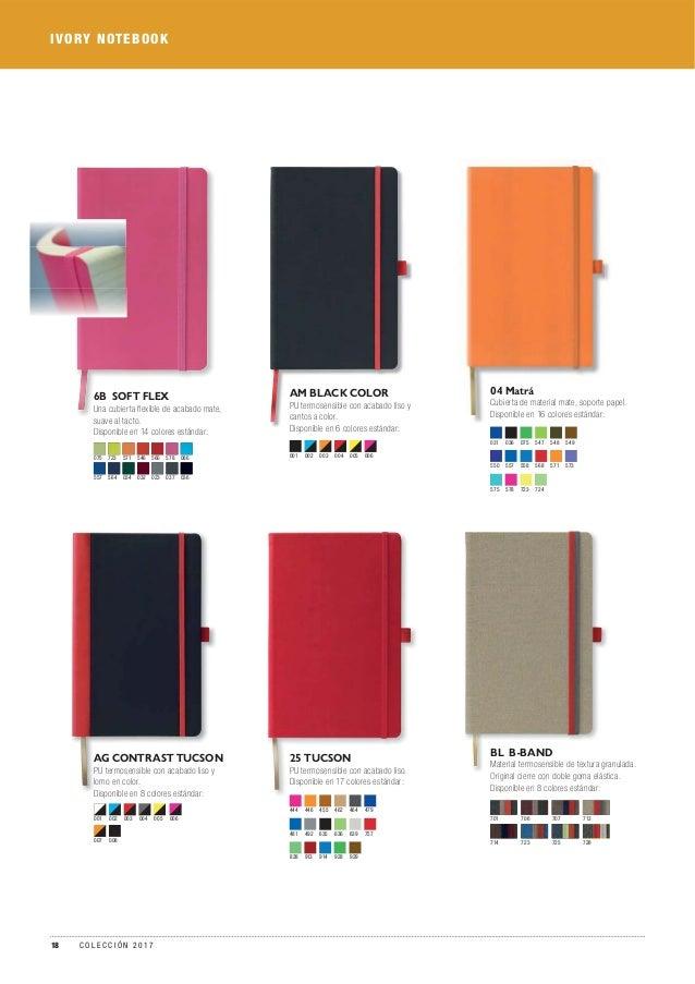 IVORY NOTEBOOK AM BLACK COLOR PU termosensible con acabado liso y cantos a color. Disponible en 6 colores estándar: 001 00...