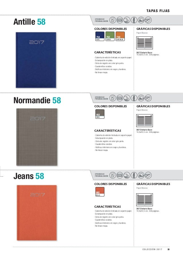OPCIONES DE PERSONALIZACIÓN OPCIONES DE PERSONALIZACIÓN OPCIONES DE PERSONALIZACIÓN Antille 58 Normandie 58 Jeans 58 TAPAS...