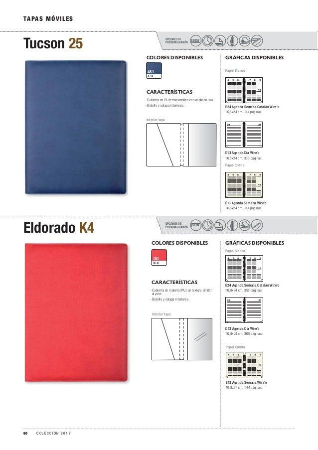 OPCIONES DE PERSONALIZACIÓN Eldorado K4 SECO OPCIONES DE PERSONALIZACIÓN Tucson 25 SECO TAPAS MÓVILES COLORES DISPONIBLES ...