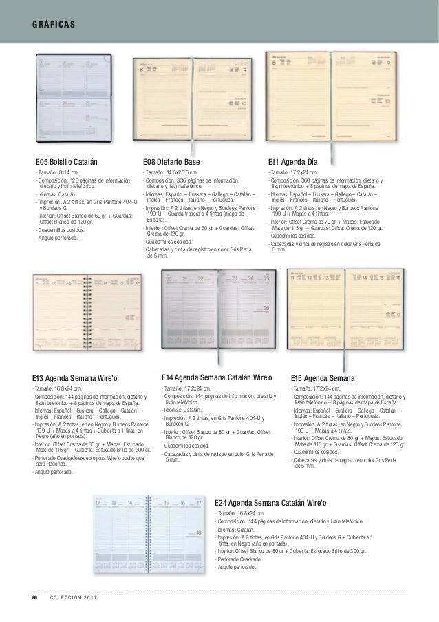 GRÁFICAS E14 Agenda Semana Catalán Wire'o · Tamaño: 17'2x24 cm. · Composición: 144 páginas de información, dietario y list...