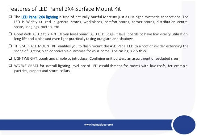 Feature Of Led 2 x4 Panel Light