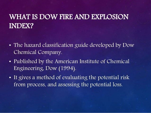 dow chemical exposure index guide pdf