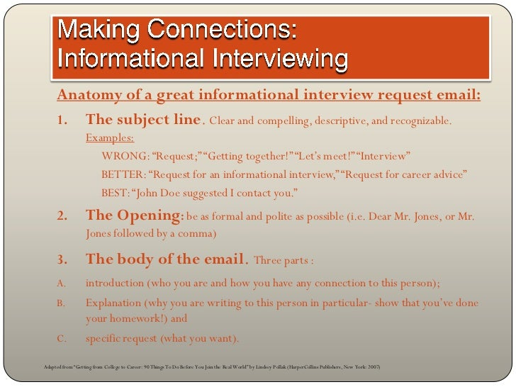 informational interview request email