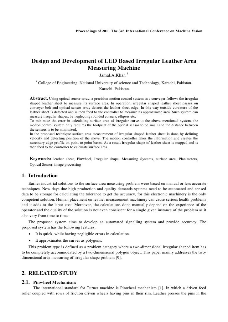 Proceedings of 2011 The 3rd International Conference on Machine Vision        Design and Development of LED Based Irregula...