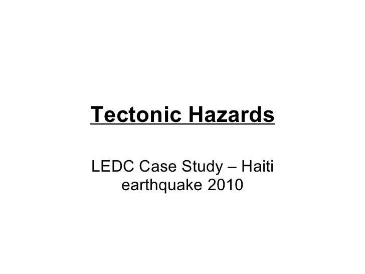 haiti earthquake case study bitesize