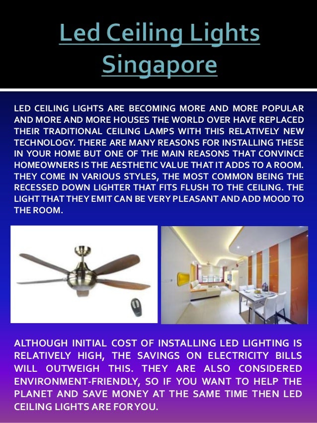 Led ceiling lights and fans singapore