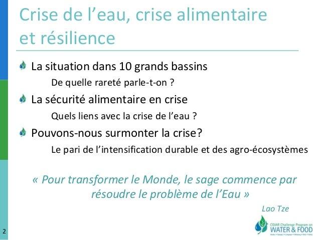 Le defi de l'eau AgroParisTech MS Gestion de l'Eau Montpellier 2013 Slide 2