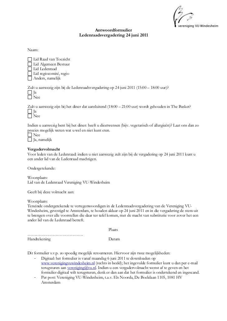 4819650-771525Antwoordformulier<br />Ledenraadsvergadering 24 juni 2011<br />Naam:   FORMTEXT <br /> FORMCHECKBOX  Li...