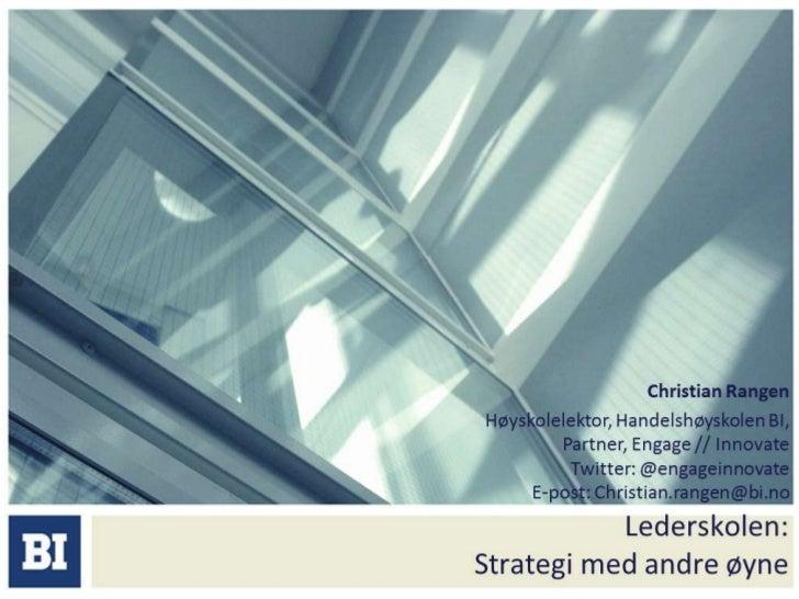 Strategi & innovasjonDet er mye vi ikke forstår enda...