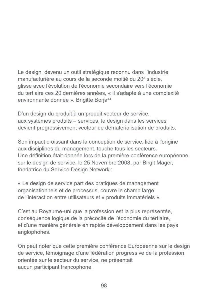 Stefan Moritz «service design, practical access to an emerging field».                                  103