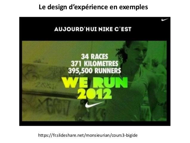 Le design d'expérience en exemples https://fr.slideshare.net/monsieurian/cours3-bigide