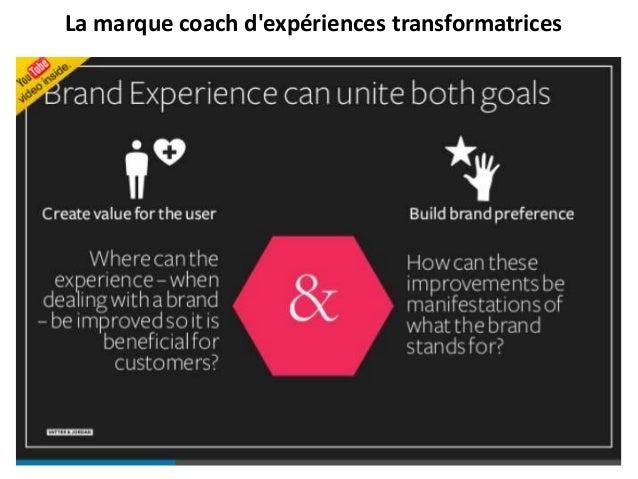La marque coach d'expériences transformatrices https://fr.slideshare.net/monsieurian/cours3-bigide
